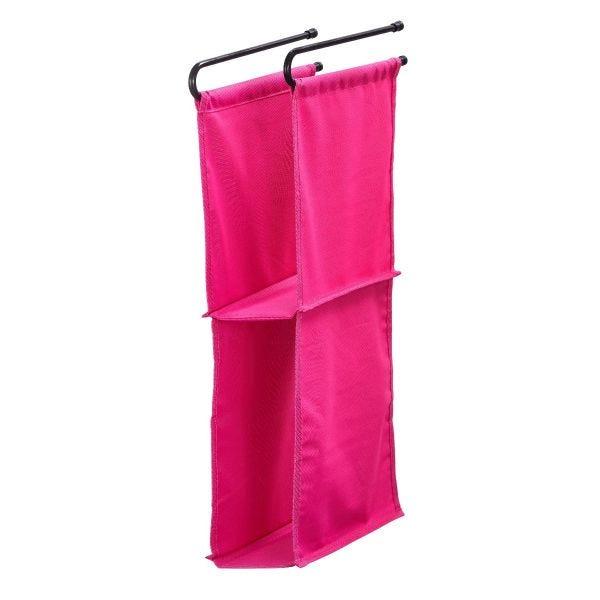 LockerMate Hanging Fabric Locker Shelf, Pink