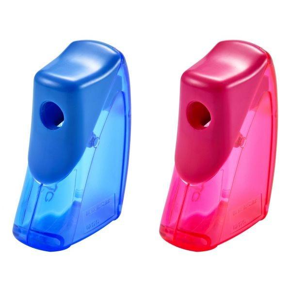 It's Academic Manual Pencil Sharpener, Flip Top, Assorted Colors