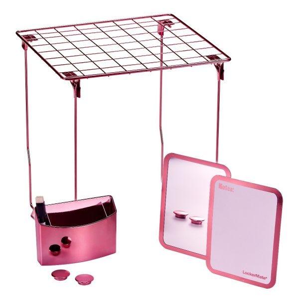 LockerMate 7-Piece Locker Storage Kit, Rose Gold