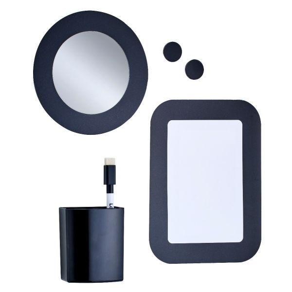 LockerMate 6-Piece Locker Accessories Kit, Black