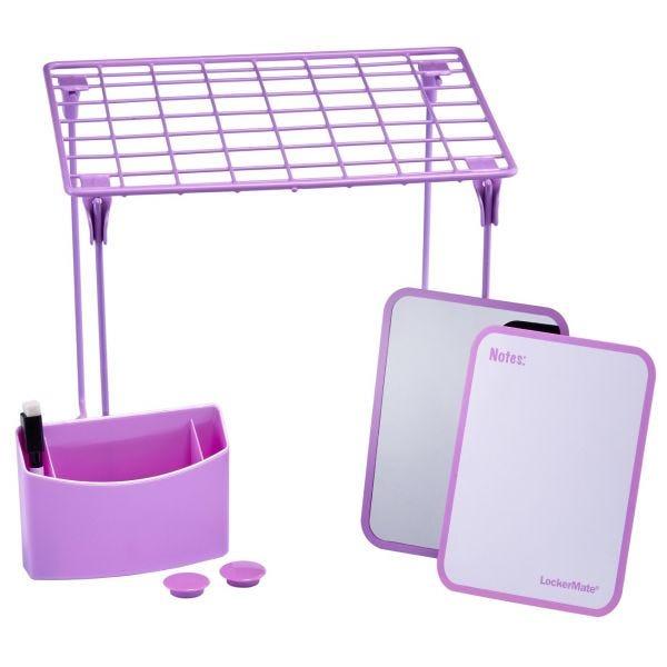 LockerMate 7-Piece Locker Storage Kit, Purple