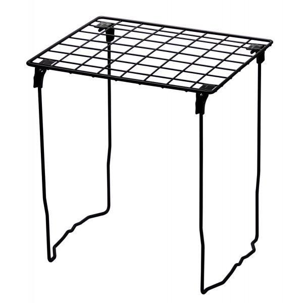 LockerMate Stac-A-Shelf Locker Shelf with Stackable Design, Black