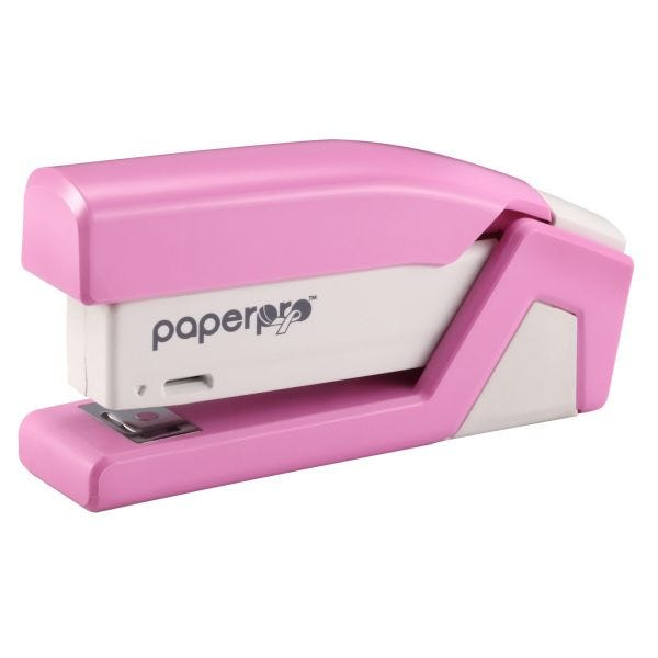 Pink Compact Stapler