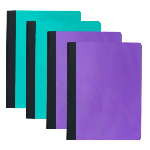 College-Ruled Composition Notebook, Teal and Purple, 4-Pack