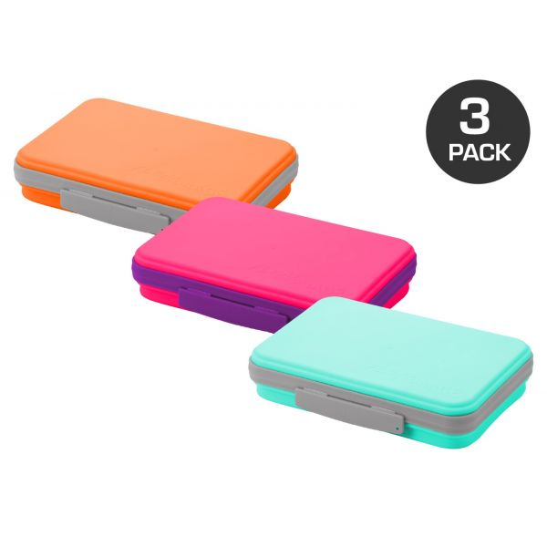 Collapsible Pencil Box in 3-Pack
